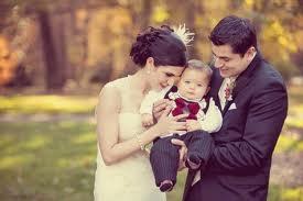 Zdjęcia ślubne z dzieckiem