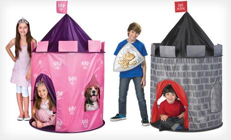 Namiot dziecięcy w kształcie zamku