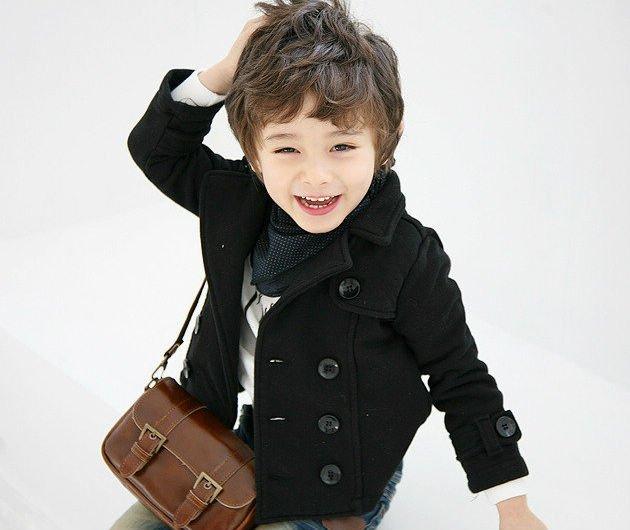 Zimowy płaszcz chłopięcy