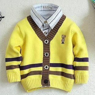 Elegancki rozpinany sweter chłopięcy